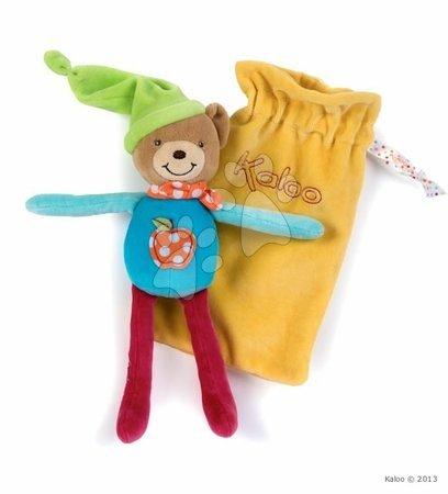 Bábiky pre dievčatá - Plyšový medvedík postavička na maznanie Colors-Baby Doudou Pocket Kaloo vo vrecku 20 cm pre najmenších