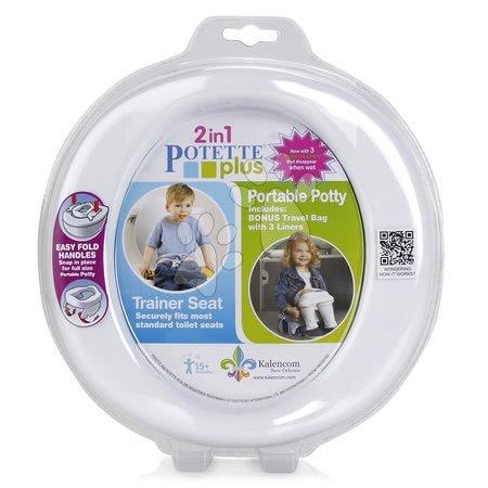 Cestovný nočník/redukcia na WC Potette Plus bielo-šedý od 15 mesiacov