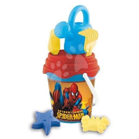 Spiderman - Set găleată cu stropitoare Spiderman Mondo cu 7 accesorii (17 cm înalt) de la 18 luni