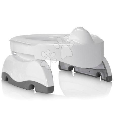 Cestovní nočník/redukce na WC Potette Premium 2v1 Kalencom bílo-šedá + 3 ks náhradních náplní a cestovní taška od 15 měsíců