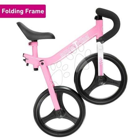 Otroški poganjalci - Poganjalno kolo zložljivo Folding Balance Bike Pink smarTrike rožnato iz aluminija z ergonomskimi ročkami od 2-5 leta in ščitniki za darilo_1