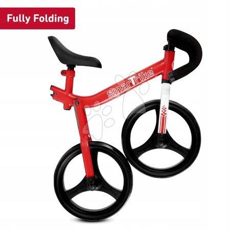 Otroški poganjalci - Poganjalno kolo zložljivo Folding Balance Bike Red smarTrike rdeče iz aluminija z ergonomskimi ročaji od 2-5 leta in ščitniki za darilo_1