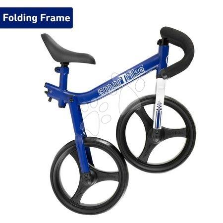 Otroški poganjalci - Poganjalno kolo zložljivo Folding Balance Bike Blue smarTrike moder iz aluminija z ergonomskimi ročkami od 2-5 leta in ščitniki za darilo_1