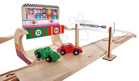 Eichhorn - Drvena autostaza Porsche Racing Set Eichhorn s pit stopom i 2 trkača automobila 350 cm duga 31 dijelova od 3 godine_1