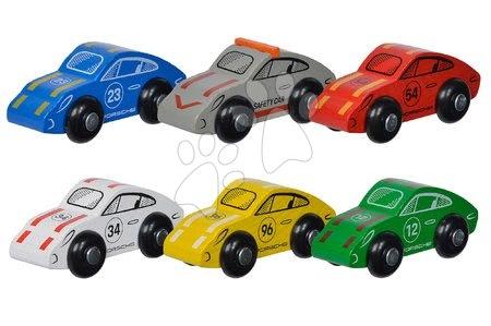 Mașini de curse din lemn Porsche Racing Cars Eichhorn 6 feluri de la 3 ani (preț pentru o bucată) EH9475861