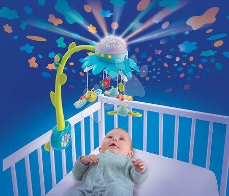 Hračky do postieľky  - Kolotoč nad postieľku Flower Cotoons Smoby s motýlikmi, hudbou a svetlom modrý od 0 mes_1