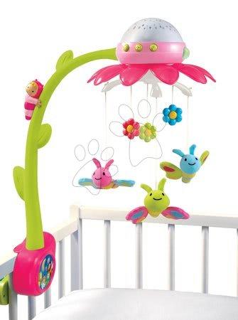 Vrtuljak za krevetić Flower Cotoons Smoby s leptirima, glazbom i svjetlom ružičasti