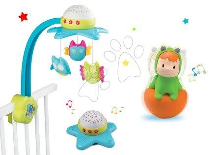 Hračky do postieľky  - Set kolotoč nad postieľku Star Cotoons Smoby a figúrka žabka Wabap/zebra Punky (jedna figúrka)
