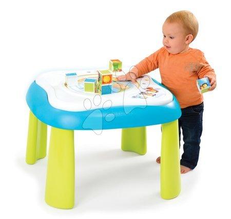 Didaktický stolek Cotoons Youp Smoby multifunkční od 5 měsíců modrý/růžový
