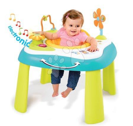 Hračky pro nejmenší - Didaktický stolek Cotoons Youp Smoby multifunkční modrý od 6 měsíců