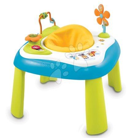 Jucării pentru bebeluși - Măsuţă multifuncţională pentru dezvoltarea abilităţilor Cotoons Youpi Smoby albastru de la 6 luni_1