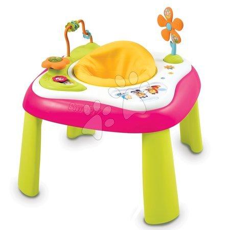 Jucării pentru bebeluși - Măsuţă multifuncţională pentru dezvoltarea abilităţilor Cotoons Youpi Smoby roz de la 6 luni_1