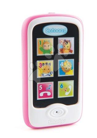 Telefon Cotoons Smoby smartphone s funkcemi nahrávání a přehrávání růžový od 6 měsíců