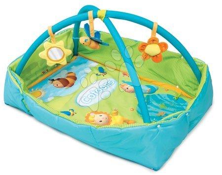Hrazdičky a hrací deky - Hrací deka s hrrazdou Cotoons Discovery Smoby s hnízdem, chrastítky a rybníkem pro nejmenší modrá_1