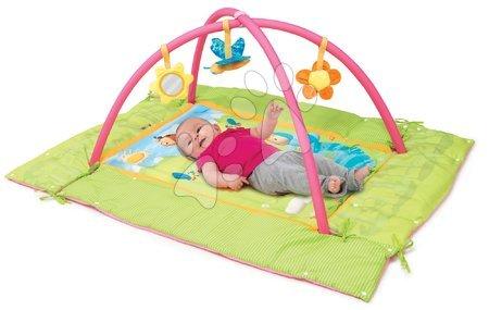 Hrazdičky a hrací deky - Hrací deka s hrazdou Cotoons Discovery Smoby s hnízdem, chrastítky a rybníkem pro nejmenší růžová_1