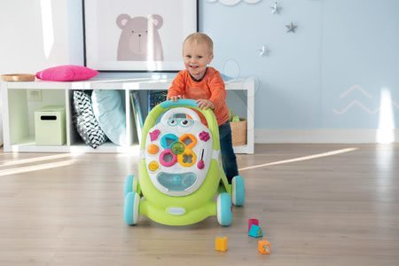 Jucării pentru bebeluși - Set premergător și valiză didactică Trott Cotoons 2în1 Smoby cu sunete și lumini și scăunel de baie Broască cu ventuze_1