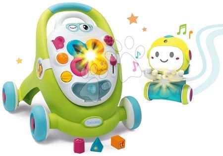 Hračky pro nejmenší - Set chodítko s didaktickým kufříkem Trott Cotoons 2v1 Smoby se zvukem a světlem a interaktivní Robot 1,2,3 Smart s pohybovým senzorem a 2 hrami