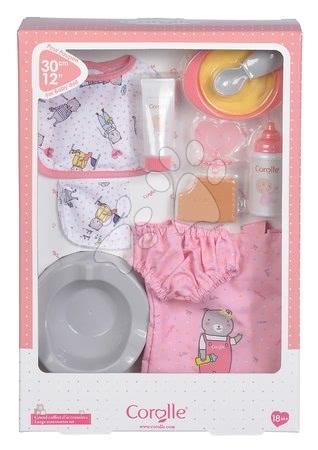 Dodatki za punčke in dojenčke - Dodatki za dojenčka Large Accessories Set Corolle v pleteni torbi za 30 cm dojenčka od 18 mes_1