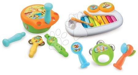 Set glasbil za najmlajše Musical Cotoons Smoby boben in ksilofon od 12 mes