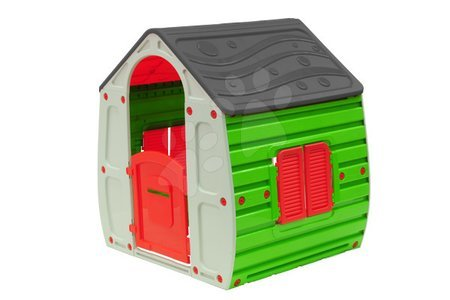 Detský domček New Fairy House Starplast od 2 rokov zeleno-sivý