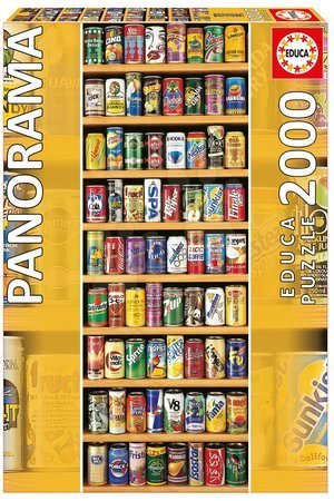 Panoramske puzzle - Puzzle Panorama Soft Cans Educa 2000 delov