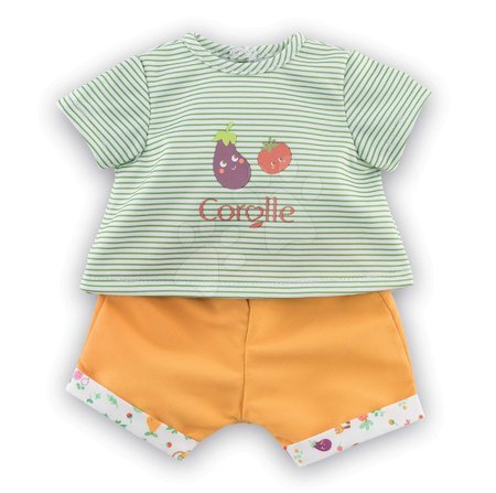 Oblečení pro panenky - Oblečení T-shirt&Shorts Garden Delights Corolle pro 30 cm panenku od 18 měs