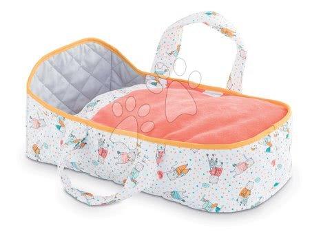 Dodatki za punčke in dojenčke - Prenosljiva tekstilna posteljica Carry Bed Coral Mon Premier Poupon Bébé Corolle za 30 cm dojenčka od 18 mes