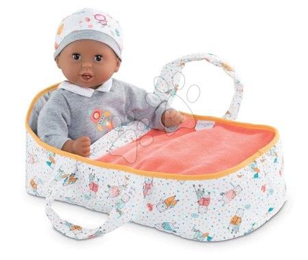 Dodatki za punčke in dojenčke - Prenosljiva tekstilna posteljica Carry Bed Coral Mon Premier Poupon Bébé Corolle za 30 cm dojenčka od 18 mes_1