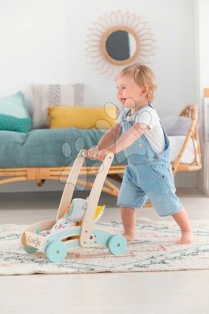 Corolle - Premergător și cărucior din lemn Wooden Baby Walker Pilow Corolle cu pernă moale pentru păpușă de la 12 luni_1