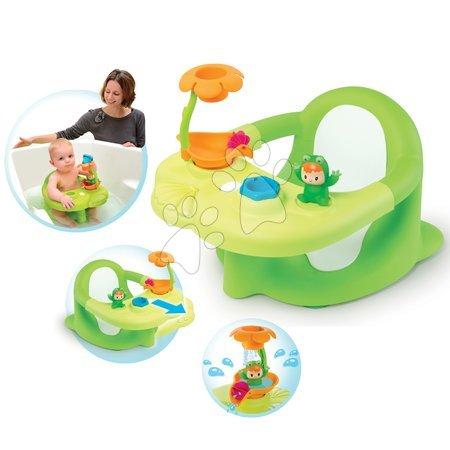 Hračky do vany - Sedátko do vody Žába Cotoons Smoby s květinkou zelené od 6 měsíců
