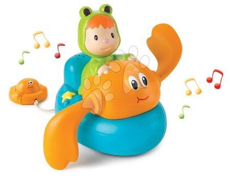 Hračky do vany - Hudební plovoucí krab s žabkou Cotoons Smoby modro-oranžový od 12 měsíců