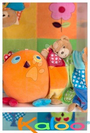 Chrastítka a kousátka - Plyšová sovička Colors-Activity Owl Kaloo pískací s chrastítkem 16 cm v dárkovém balení_1