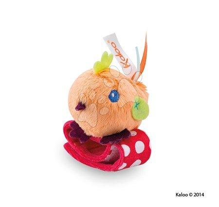 Chrastítka a kousátka - Plyšové chrastítko kuřátko Colors-Rattle Bracelets Kaloo s náramkem 12 cm pro nejmenší