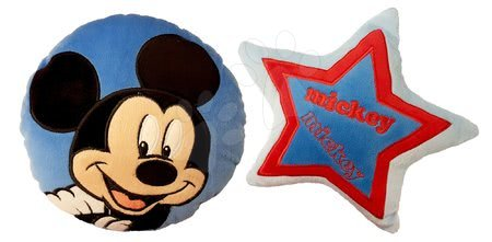 Sada plyšových vankúšov Mickey Ilanit okrúhly tvar a hviezda, modré 24 cm