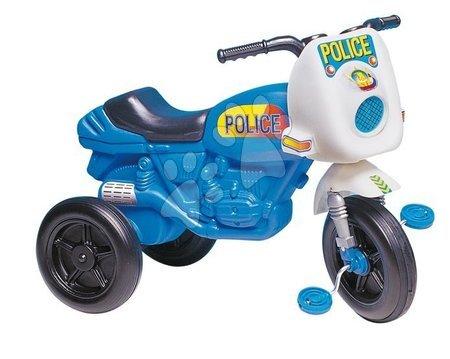 Odrážedlo s pedály Police Motor Dohány modro-bílé
