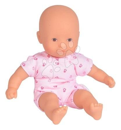 Bábiky od 18 mesiacov - Bábika Mini Calin Pink Corolle s hnedými očami a v ružových vzorovaných šatočkách 20 cm od 18 mes