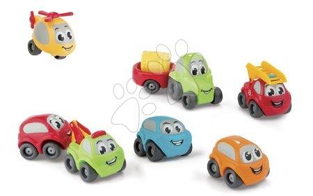 Autíčka a trenažéry - Autíčka Vroom Planet Collector Box Smoby s traktorem 7 kusů pracovní a osobní od 12 měsíců_1