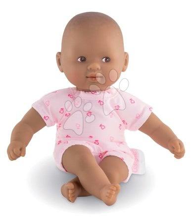 Panenky od 18 měsíců - Panenka Mini Calin Candy Corolle s hnědými očima v sladkých vzorovaných šatičkách 20 cm od 18 měs