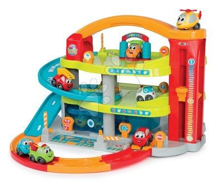 Autíčka a trenažéry - Dvoupatrová garáž Vroom Planet Grand Smoby s 1 autem a úložným boxem od 18 měsíců_1