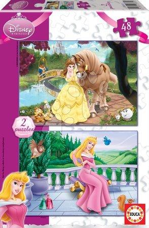 Princese - Dječje puzzle Disney Princeze Educa 2x48 dijelova