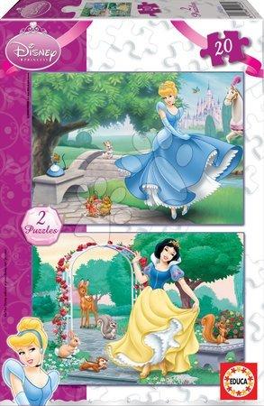 Princese - Puzzle Disney Snjeguljica i Pepeljuga Educa 2x20 dijelova