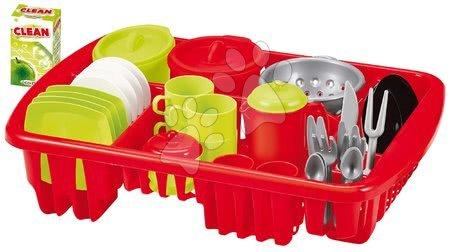 Riadíky a doplnky kuchynky - Sušička riadu do kuchyne Big Dish Drainer Écoiffier s doplnkami 42 dielov od 18 mes