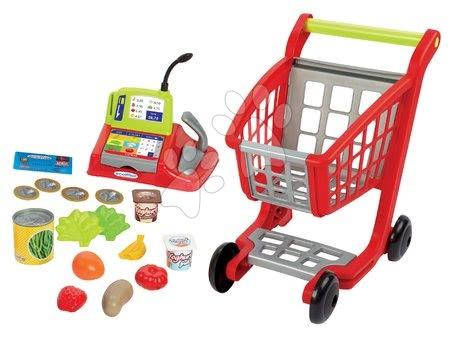 Hry na profesie - Pokladňa s nákupným vozíkom 100% Chef Ecoiffier s potravinami