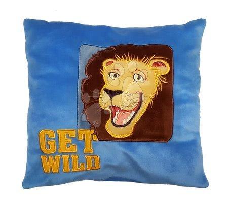 Plyšový vankúš Get wild Ilanit modrý 36*36 cm