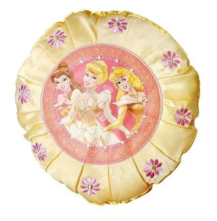 Plišaste blazine - Blazina Disney Princeske Ilanit rumena okrogla 30 cm