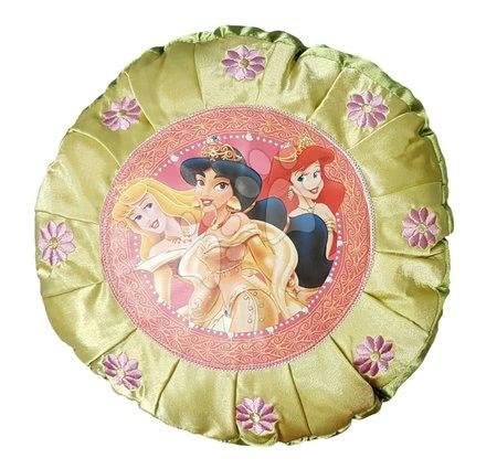 Plišaste blazine - Blazina Disney Princeske Ilanit zelena okrogla 30 cm