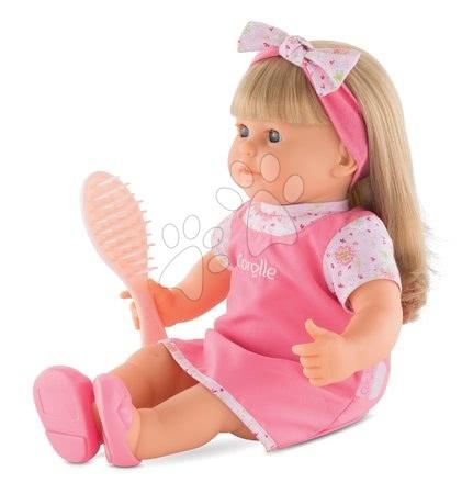 Corolle - Păpușa Adele cu părul lung blond Mon Grand Poupon Corolle 36 cm cu ochi albaștri clipitori și piaptăn de la 3 ani_1