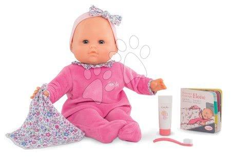 Corolle - Păpușa Eloise Pink merge la somn Mon Grand Poupon Corolle 36 cm cu ochi albaștri clipitori și 4 accesorii de la 24 de luni