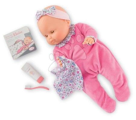 Corolle - Păpușa Eloise Pink merge la somn Mon Grand Poupon Corolle 36 cm cu ochi albaștri clipitori și 4 accesorii de la 24 de luni_1