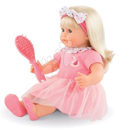 Corolle - Păpușă de jucărie Adele cu păr blond Mon Grand Poupon Corolle 36 cm cu ochi albaștri, care clipesc și piaptăn de lemn de la 3 ani_1